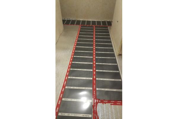 Инфрачервено подово отопление в гр. Бургас