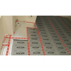 Монтаж на подово отоплително фолио с цяла загряваща площ