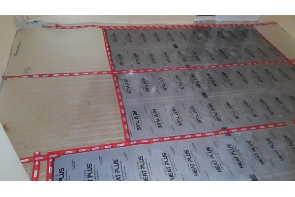 Монтаж на инфрачервено отоплително фолио HeatPlus под ламинат