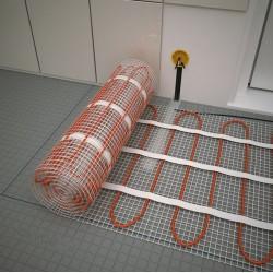Монтаж на подово отопление под плочки: отоплителните  рогозки WSM / ProfiMat