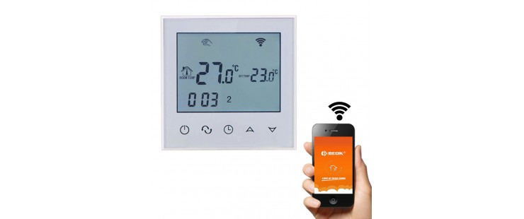 Терморегулатор Beok TDS-21-WiFi за подово отопление
